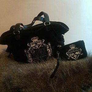 Juicy Couture Fairytale Velour Bag and Wristlet